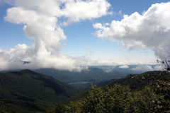 Mountain weather along the blue ridge parkway Stock Photos