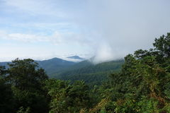 Mountain weather along the blue ridge parkway Royalty Free Stock Photo