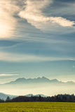 Mountain wendelstein and bavarian alps Royalty Free Stock Photo