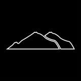 Mountain white color icon . Stock Photos
