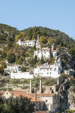 Mountains of Frigiliana in vertical Stock Images