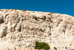The mountain from white limestone. Cyprus Stock Photography