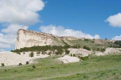 Mountain White Rock Ak-Kaya, Crimea Stock Photography