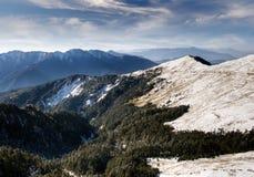 Mountain with white snow Stock Photo