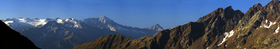 Mountain wide panorama. Mountain wide landscape of italians Alps Royalty Free Stock Photo