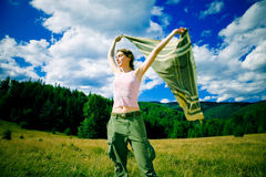 Mountain wind Stock Images