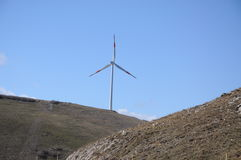 Mountain wind turbine Royalty Free Stock Photography