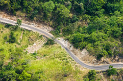 Mountain winding road Royalty Free Stock Photos