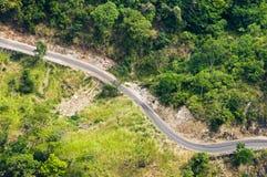 Mountain winding road. Mountain road in Sri Lanka Royalty Free Stock Photos