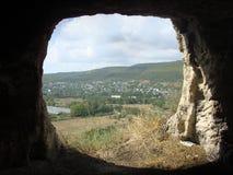 The mountain window. In Creamea Stock Photos