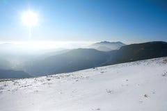 Mountain in the winter Stock Photos