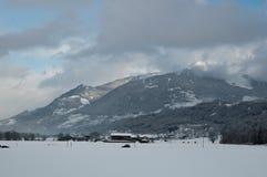 Mountain. Winter mountain in Austria, Innsbruck Stock Photo