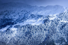 Mountain in winter Royalty Free Stock Photo