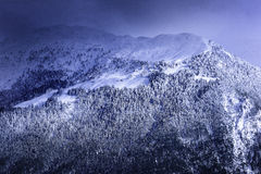 Mountain in winter Royalty Free Stock Images