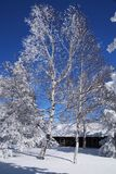 Mountain winter house Stock Photography