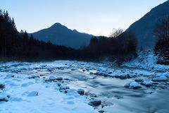 Mountain winter landscape Royalty Free Stock Images
