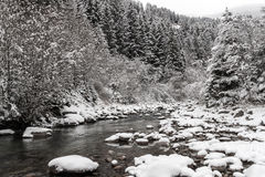 Mountain winter landscape Stock Images