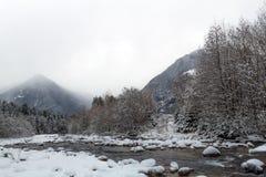 Mountain winter landscape Stock Photos