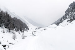 Mountain winter landscape Royalty Free Stock Photography