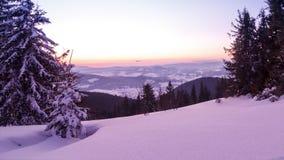 Mountain Winter Landscape stock footage