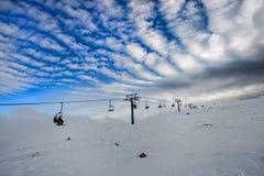 Mountain winter  resort Royalty Free Stock Photos