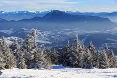 Mountain winter scene Stock Photos