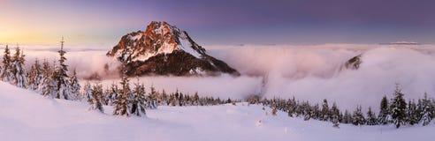 Mountain at winter in Slovakia Stock Photo