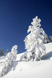 Mountain, winter, snow and sky stock photos