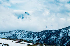 Mountain winter snowy landscape Royalty Free Stock Image