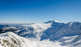 Mountain. Winter in the snowy mountains Stock Images