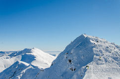 Mountain. Winter in the snowy mountains Royalty Free Stock Photography
