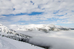 Mountain. Winter in the snowy mountains Royalty Free Stock Images