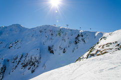 Mountain. Winter in the snowy mountains Stock Photography