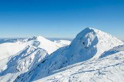 Mountain. Winter in the snowy mountains Stock Photos