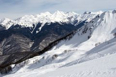 Mountain for winter sports Royalty Free Stock Images