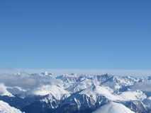 Mountain. During the winter time on the mountains royalty free stock photo