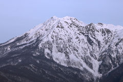 Mountain at winter Stock Photo