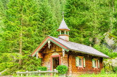 Mountain wooden chapel, Zillertal, Austria Royalty Free Stock Photos