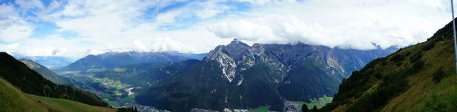 Mountain world in the Stubai Valley Royalty Free Stock Image