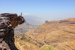 Mountain Yemen landscape Stock Photos