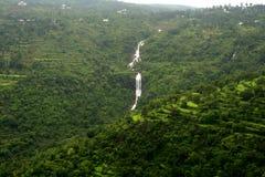 mountain zalesiona wodospadu Obrazy Royalty Free