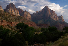 Mountain in Zion National Park Stock Images