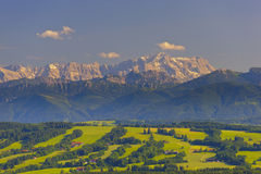 Mountain Zugspitze in Bavaria Stock Photography
