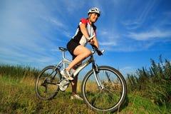 Mountainbike royaltyfria foton