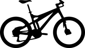 Mountainbike. Illustration of a black mountainbike Stock Images