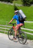 Mountainbike. R in Bucegi mountains, on Romania road Stock Photography
