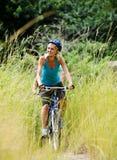 Mountainbike couple outdoors Royalty Free Stock Photos