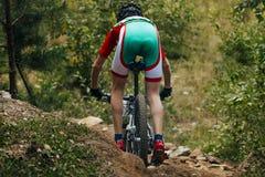 Mountainbike in discesa Immagine Stock Libera da Diritti