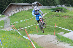 Mountainbike Downhill Stock Photo