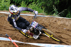 Mountainbike Downhill Stock Images